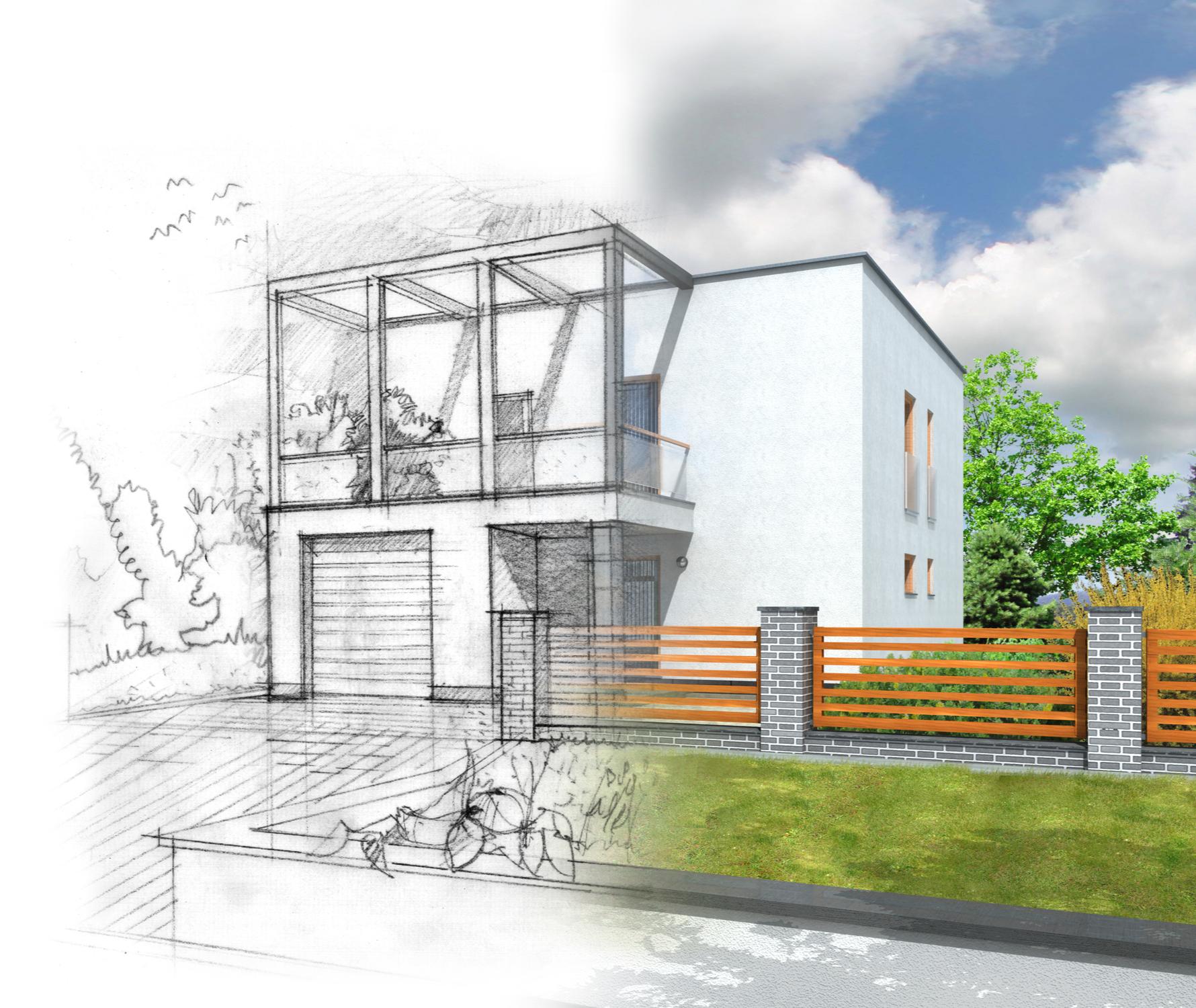 illustration house construction