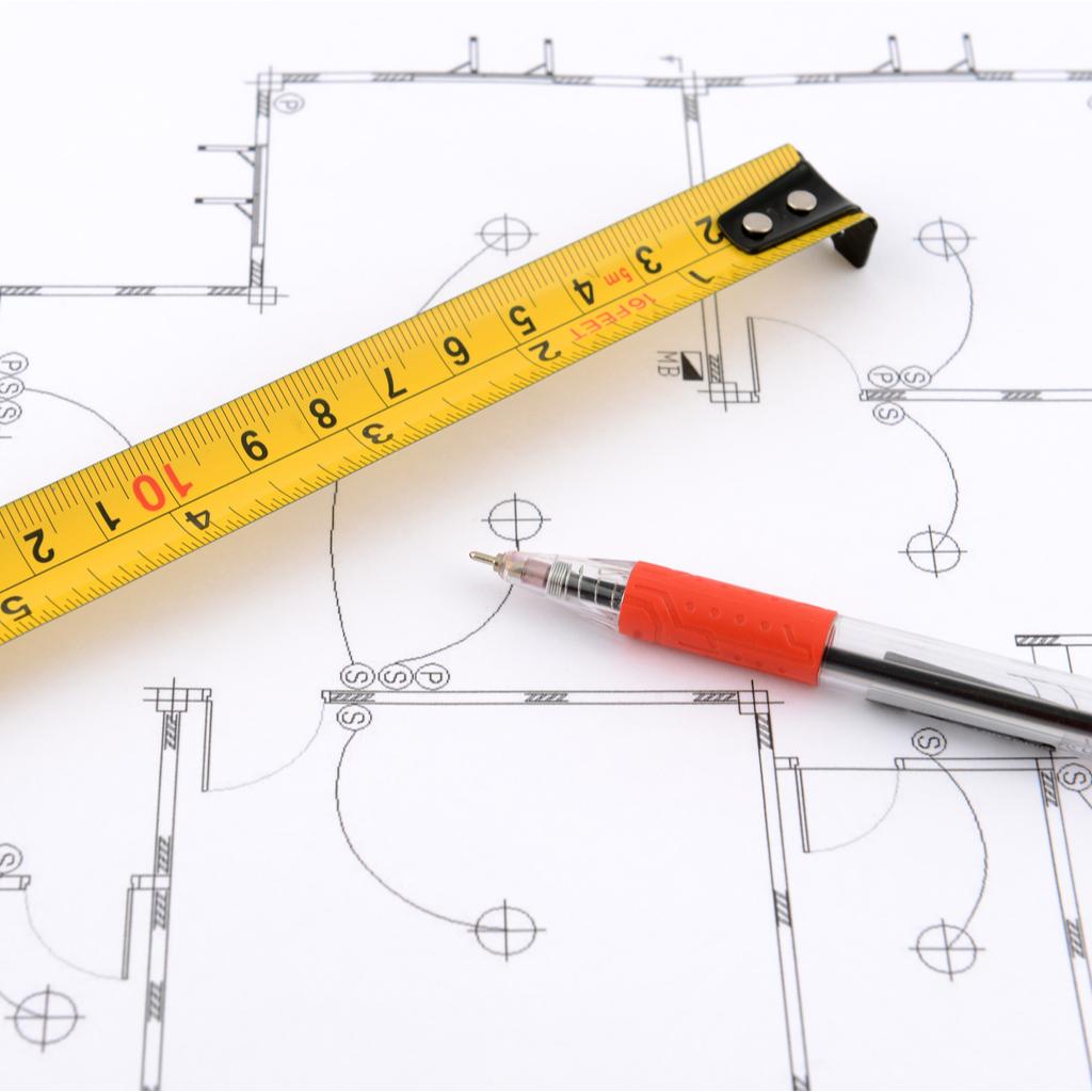 measuring tape drawing plans