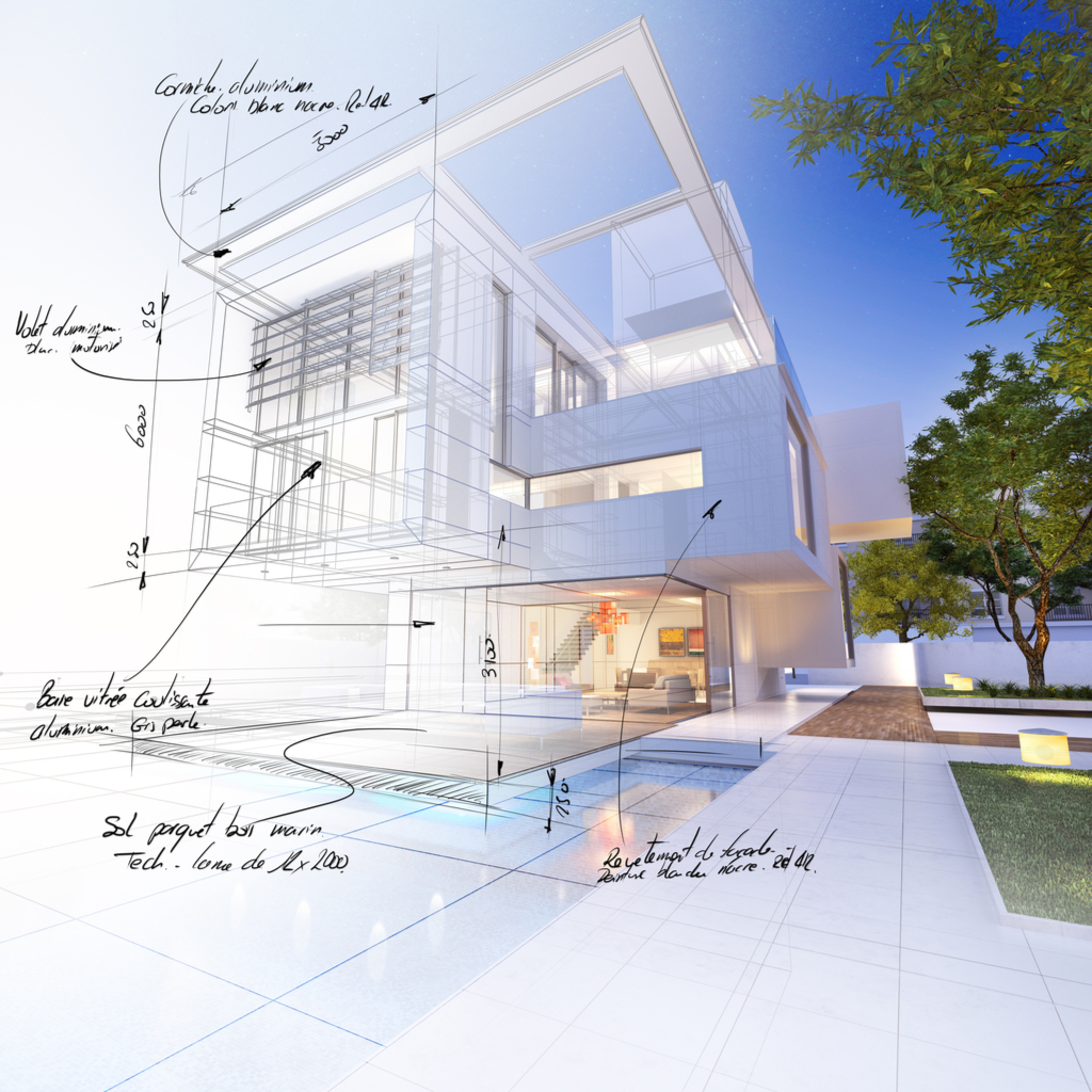 3D drawing house